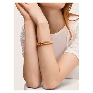 Kate Spade ♠️Gold Tone Enamel Stretchy Bracelet